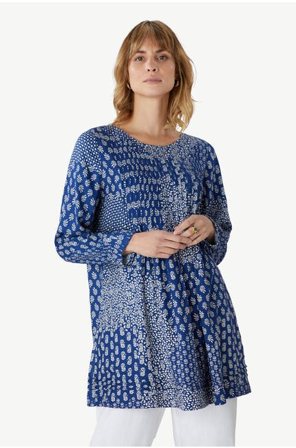 Photo of Indigo Block Print Tunic