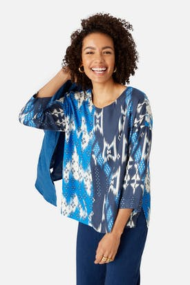 Photo of Mixed Ikat Print Top