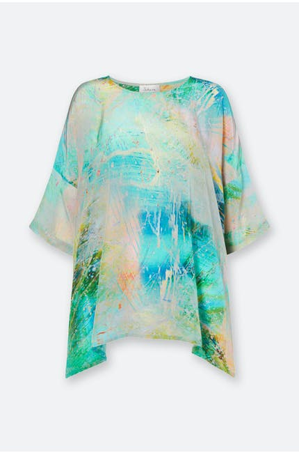 Marble Print Boxy Top