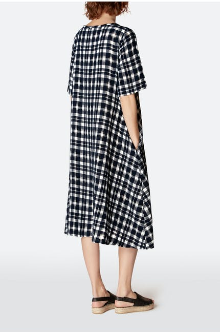 Vintage Check Flared Dress