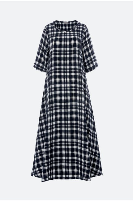 Photo of Vintage Check Flared Dress