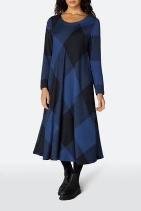 Photo of Large Check Jersey Bias Dress