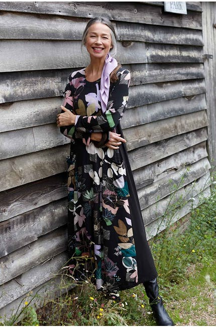 Photo of Sketch Floral Jersey Dress