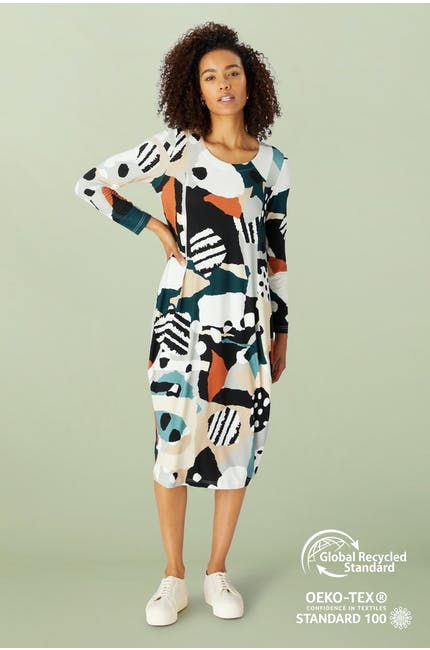 Photo of Abstract Print Bubble Dress