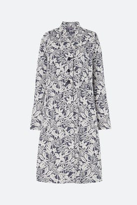 Photo of Palm Print Jacquard Coat