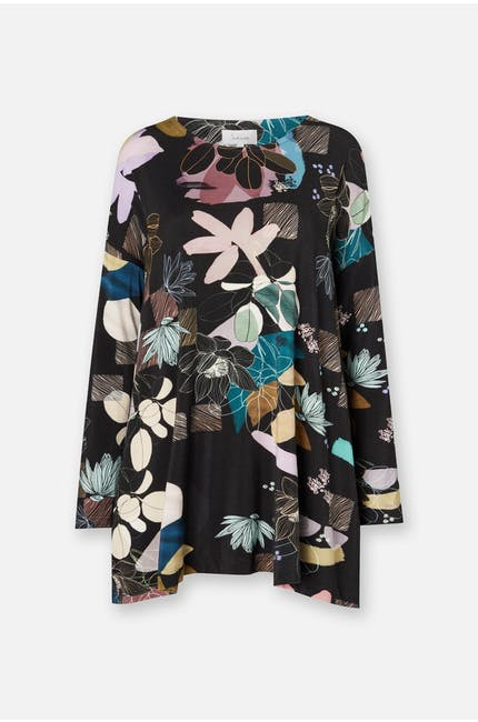 Photo of Cut-out Floral Jersey Top