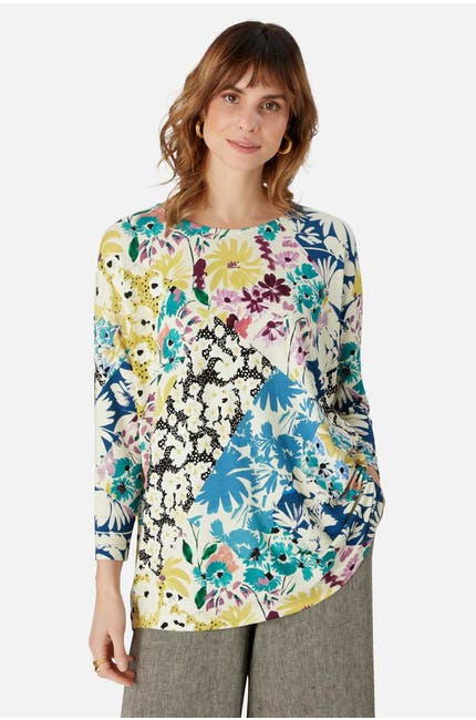 Floral Collage Top