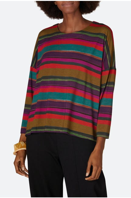 Photo of Vibrant Stripe Print Top