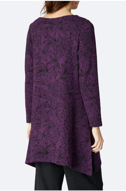 Floral Outline Jersey Tunic