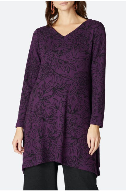 Photo of Floral Outline Jersey Tunic