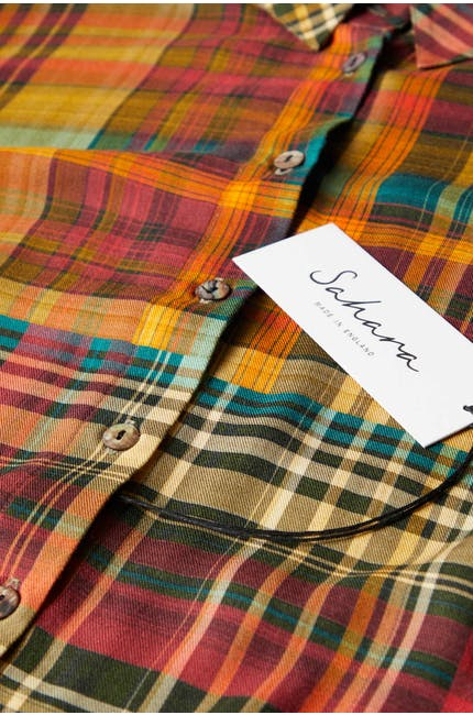 Patched Check Shirt