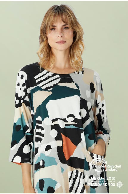 Photo of Abstract Jersey Print Tunic