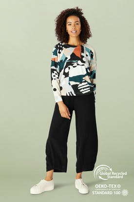 Photo of Abstract Jersey Print Easy Top
