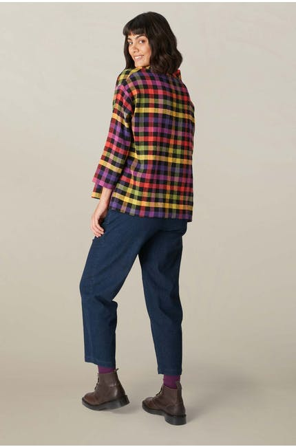 Colourful Check Top