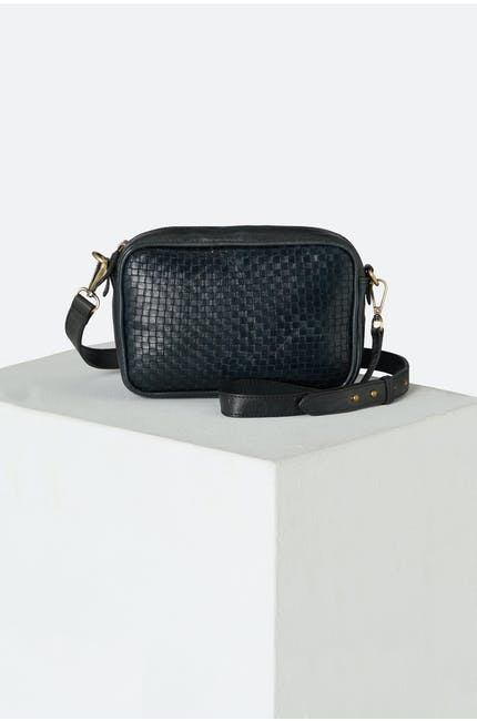 Woven Leather Detail Bag