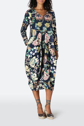 Photo of Floral Symphony Jersey Dress