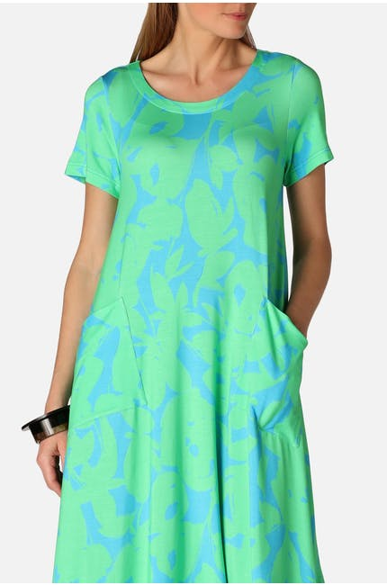Photo of Abstract Flower Jersey Dress