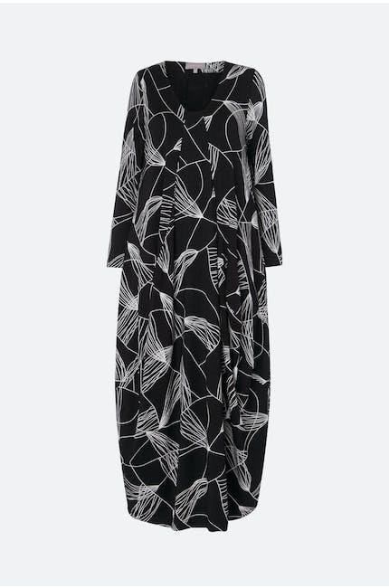 Abstract Line Jersey Dress