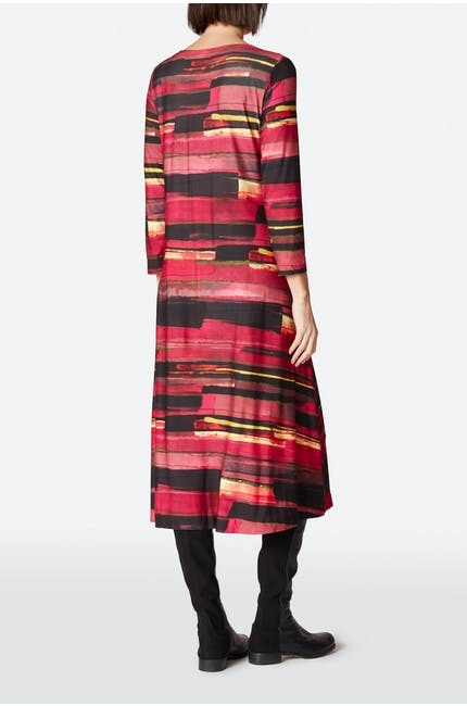 Brush Print Jersey Dress