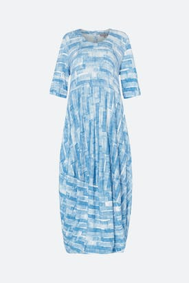 Photo of Sky Stripe Print Jersey Dress