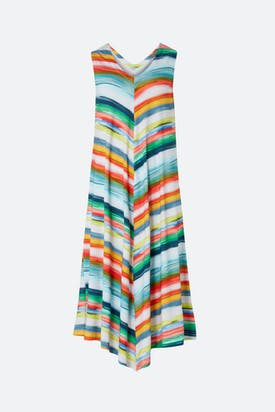 Photo of Vibrant Stripe Chevron Jersey Dress