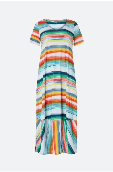 Photo of Vibrant Stripe Jersey Dress