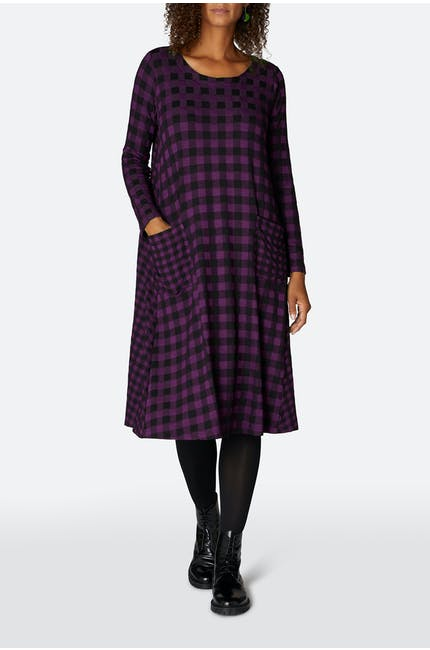 Double Check Jersey Dress