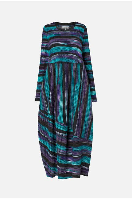Horizon Stripe Print Jersey Dress