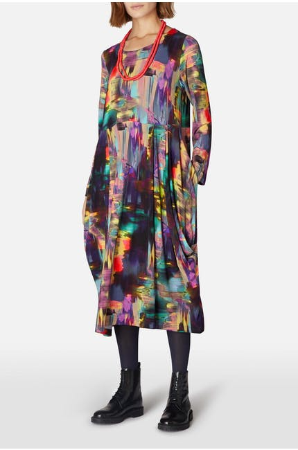 Photo of Brushstroke Print Bubble Dress