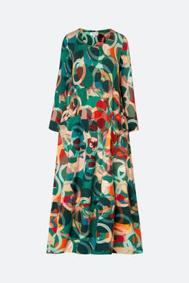 Photo of Multi Circle Print Jersey Dress