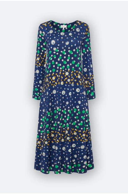 Watercolour Spot Jersey Dress