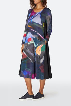 Photo of Paintbox Print Jersey Dress