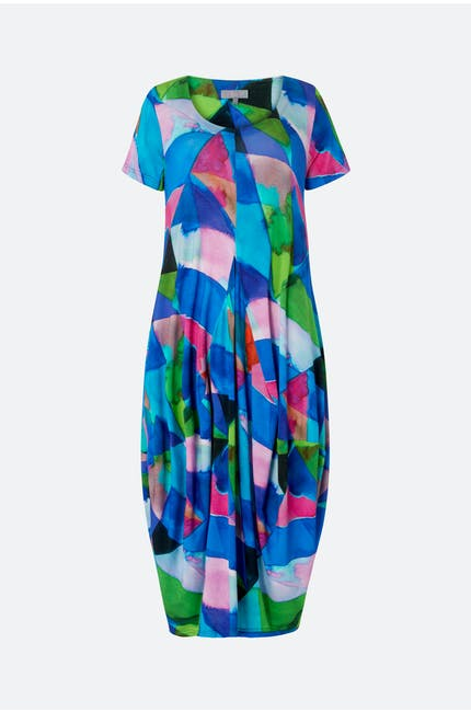 Harlequin Jersey Bubble Dress