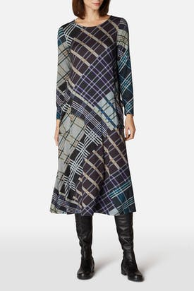 Photo of Patchwork Check Jersey Dress
