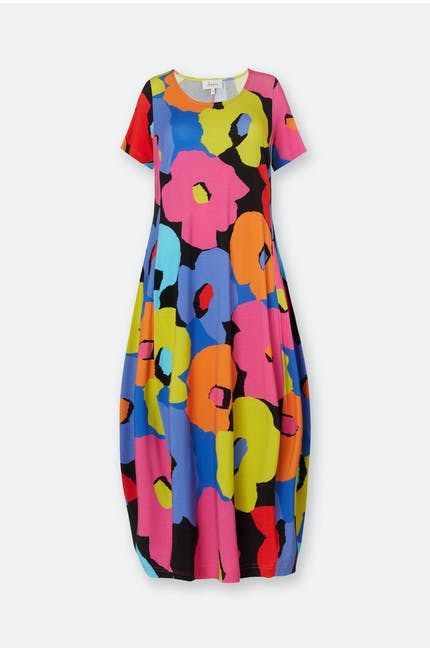 Photo of Modernist Floral Jersey Dress
