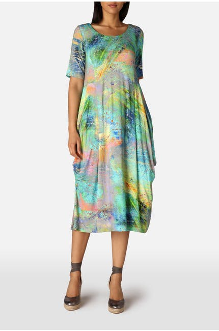 Photo of Marble Print Jersey Dress