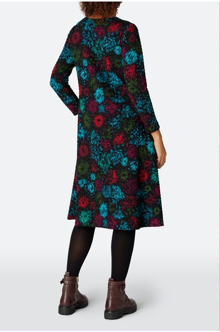 Ripple Floral Jersey Dress