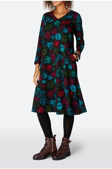Photo of Ripple Floral Jersey Dress
