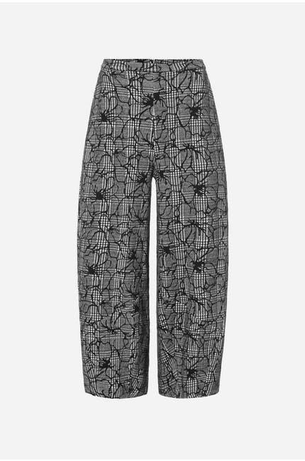 Photo of Linear Floral Check Trouser