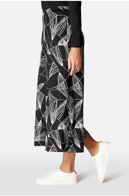 Abstract Line Jersey Trouser