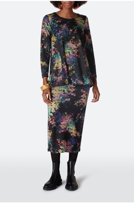 Photo of Floral Spot Jersey Skirt