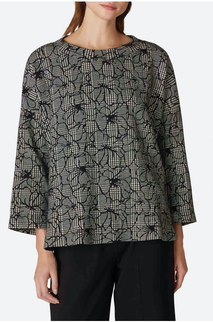 Photo of Linear Floral Check Top