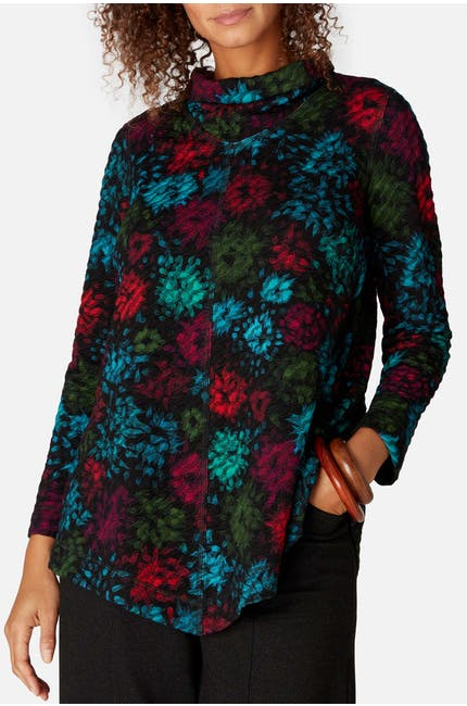 Ripple Floral Jersey Top