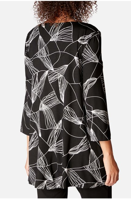 Abstract Line Jersey Tunic