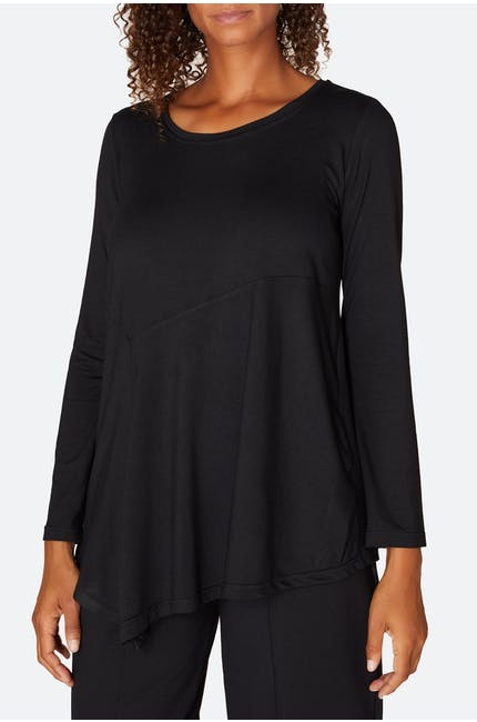 Photo of Drapey Jersey Asymmetric Top