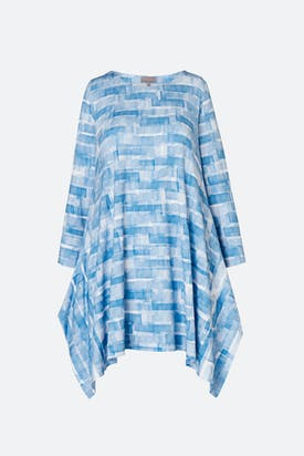 Photo of Sky Stripe Print Jersey Tunic