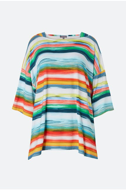 Vibrant Stripe Jersey Top