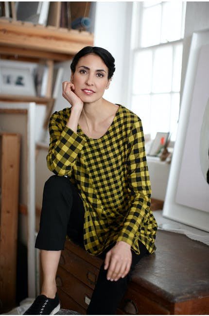 Double Check Jersey Tunic