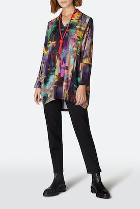 Photo of Brushstroke Print Jersey Tunic