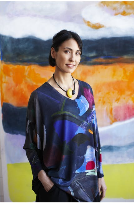 Paintbox Print Jersey Tunic